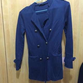 🆕Queen Shop 雙排扣小立領薄外套