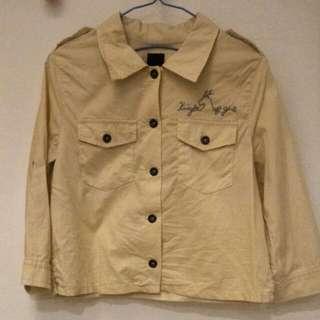 Gozo 率性米白短版七分袖襯衫