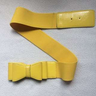 Yellow Cute Bow Belt