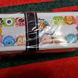 全新 迪士尼 雙層便當盒 攜帶方便