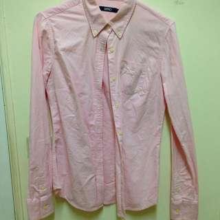 二手✨SPAO 韓國購回 粉色襯衫