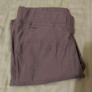 氣質耦紫色內搭褲