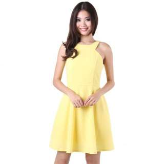 MGP Starlit Skater Dress in Yellow Size S