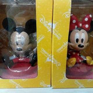 迪士尼正版 米奇 米妮 搖頭公仔 全新含盒