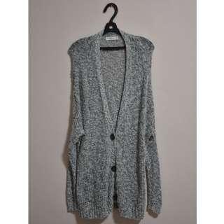 Abercrombie & Fitch Boyfriend Cardigan Grey Colour (XS/S)