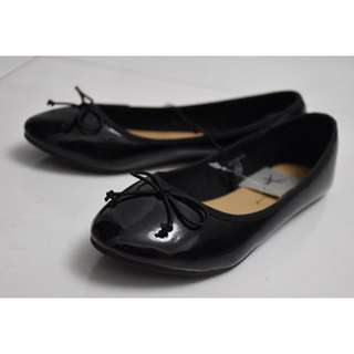 Primark's Atmosphere brand Ballerina Flats in Patent Black (UK 4 / EUR 37)