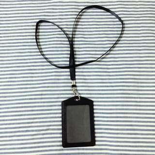 ❗️SALE❗️Black Lanyard & ID Holder (PU Leather)