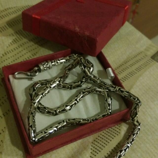 近全新925純銀項鍊