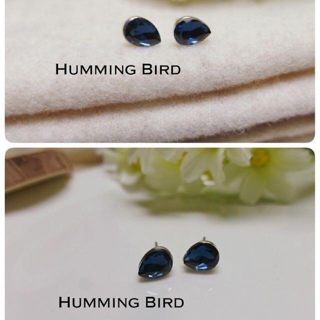 寶藍貼耳環