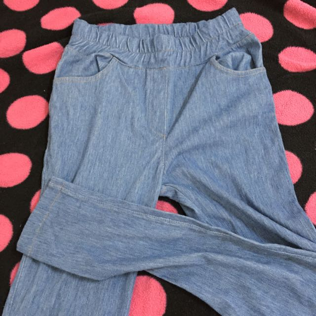 內搭褲藍色
