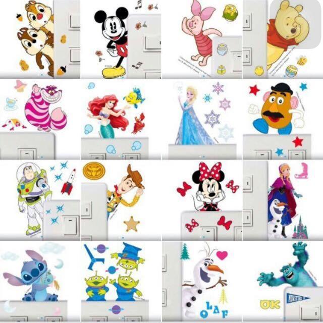 迪士尼彩色造型貼紙