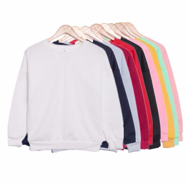 韓版馬卡龍糖果色純色衛衣