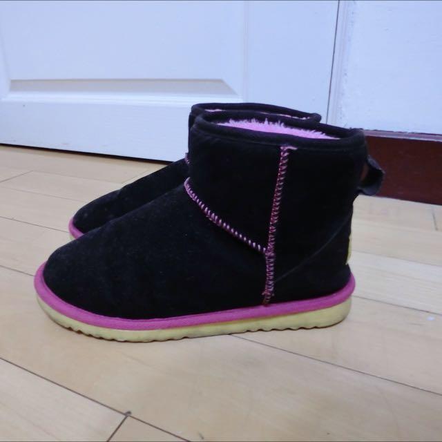 黑色雪靴 23.5-24.5可穿