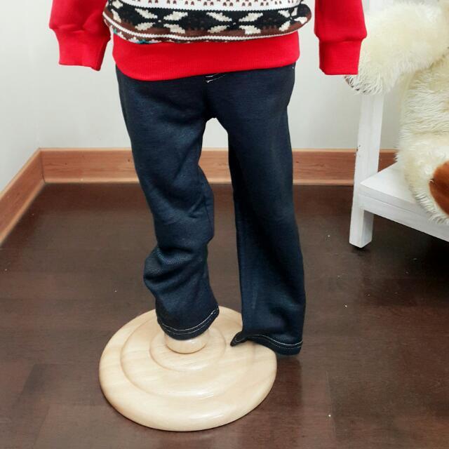 韓版 牛仔不倒絨棉褲 免運費