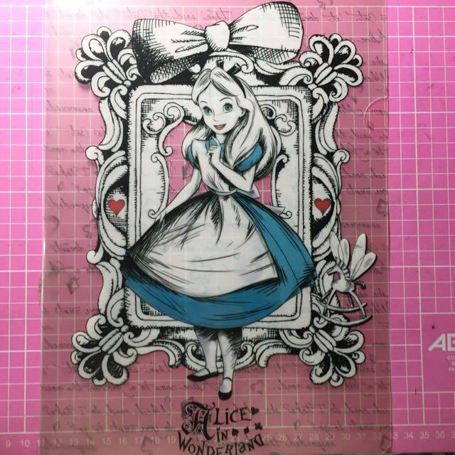 Alice In Wonderland A4資料夾日本帶回