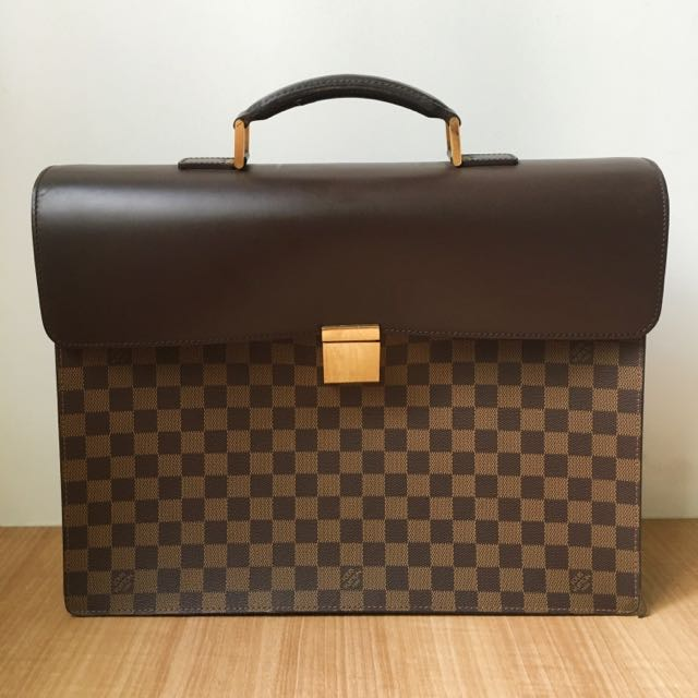 Authentic Louis Vuitton Leather Briefcase