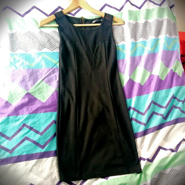 Dotti Black Silhouette Mesh Dress