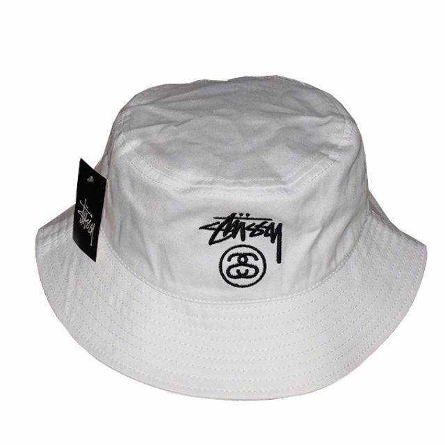 7a02429103d Instock Stussy SS Link Band White Bucket Hat Cap Hats Caps Fisherman ...