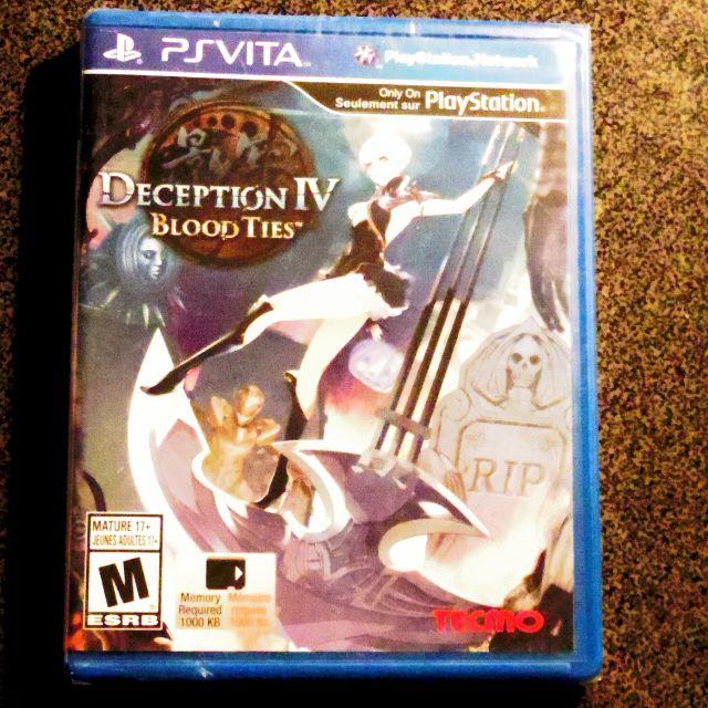PS Vita - Deception IV Blood Ties - Brand New & Sealed