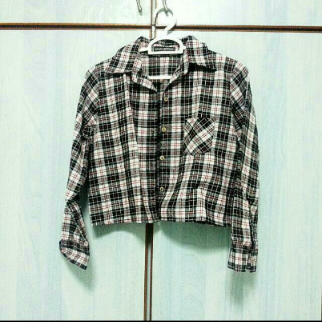 (REDUCED) Cropped Flannel Top