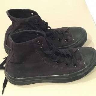 Converse All Black High Tops