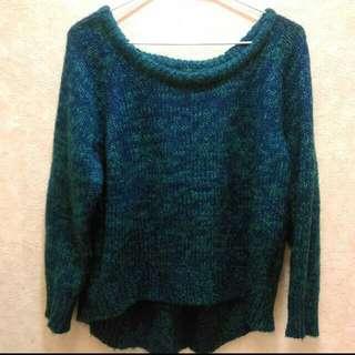 Lulus 混色 綠 針織 毛衣 前短後長