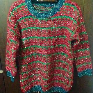 冬季必備☃聖誕色針織毛衣