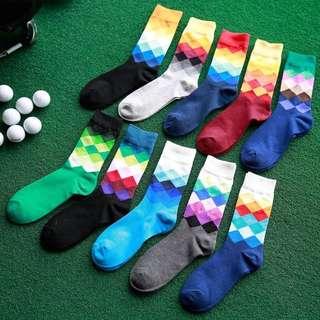漸層撞色系列中筒襪