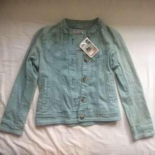 NEW W/ TAGS Don't Ask Amanda Denim Tuck Jacket
