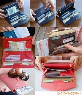 韓國多功能皮革證件夾
