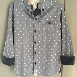NEXT(UK) Boys Polka Dot Shirt