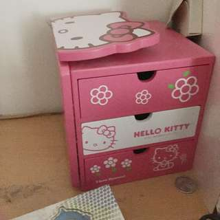 🎀Hello Kitty #無嘴貓 桌上小型收納櫃