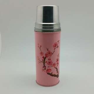 Enamel Pink Sakura Flask