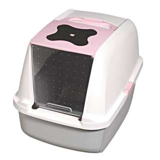 Catit Hooded Litter Pan In Pink