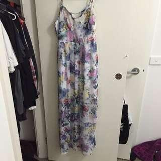 Forever 21 Floral Long Dress Size L