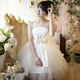 ❄️❄️❄️ 新品~天使款伴娘團小禮服《贈珍珠項鍊》