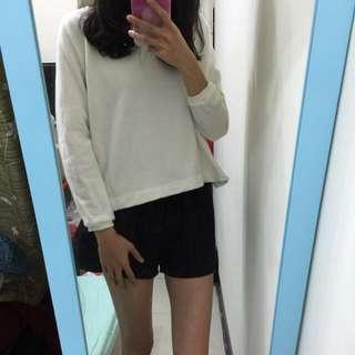 Miss Cherry 正韓開叉白色衛衣
