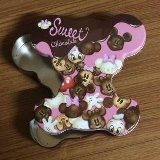 東京迪士尼 大學熊 米奇 米妮 情人節 鐵盒 收藏變賣