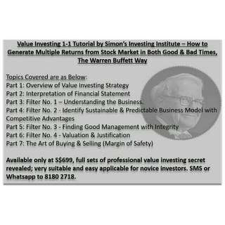 Value Investing Course - Earn Money, Retire Early!