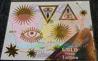 Temporary Gold Tattoos