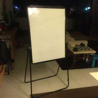 RESERVED!! Standing Whiteboard  ( With Flip Chart Clip Built In )