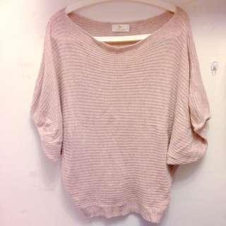 韓國帶回 柔粉 毛衣 上衣