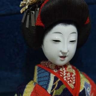 Antique Japanese Gofun Geisha Doll