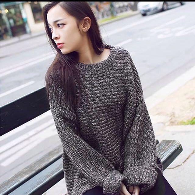 全新灰針織毛衣