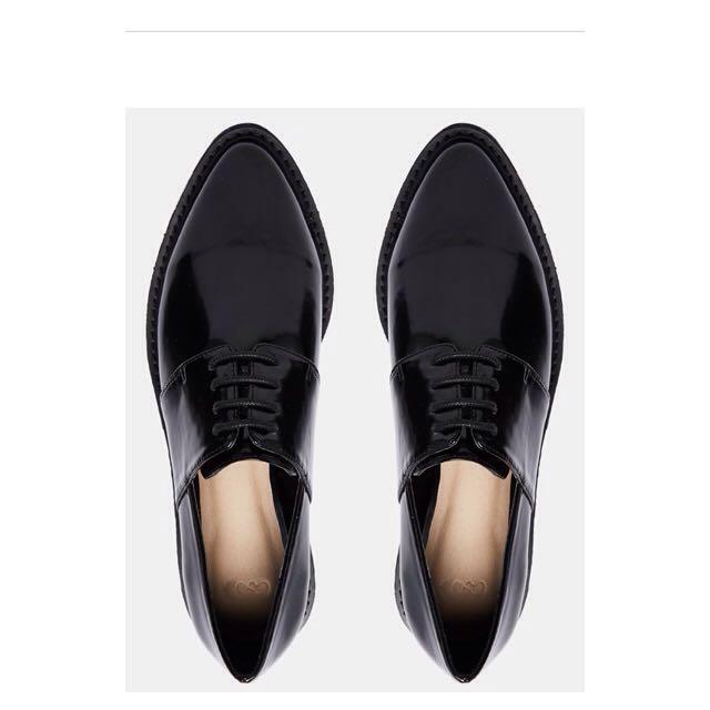 歐美英倫風後底黑色牛津鞋