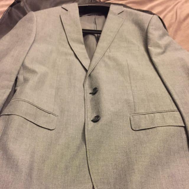 全新灰色西裝/獵裝外套