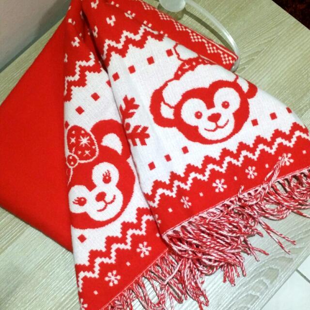 香港迪士尼 Duffy 兩用圍巾 披巾