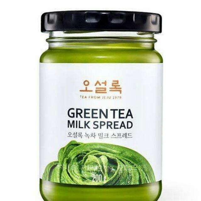 ● 韓國O'sulloc 超濃抹茶牛奶醬 200g 抹茶醬