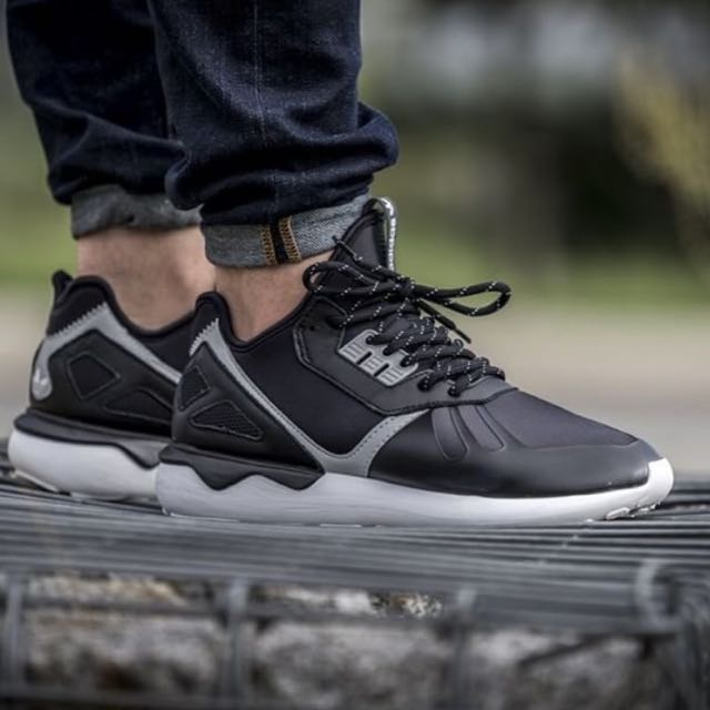 Adidas Tubular Runner  Y-3黑色 皮革 平民版