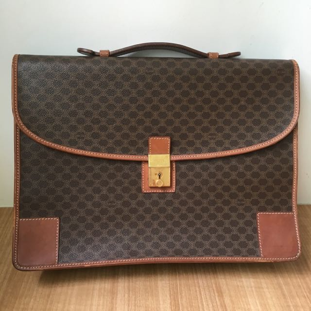 Authentic Celine Leather Briefcase